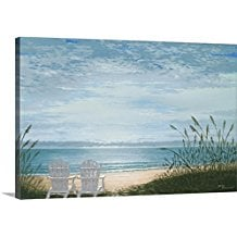 1-beach-chairs-canvas-art Beach Wall Decor