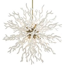 1-coastal-beach-white-coral-pendant Beach Chandeliers & Coastal Chandeliers
