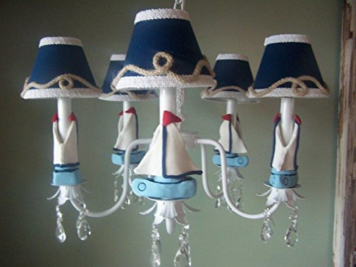 10-sailboats-chandelier 100+ Beautiful Nautical Themed Chandeliers For 2020