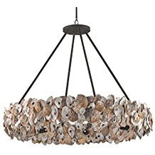 11-oyster-seashell-coastal-chandelier Beach Chandeliers & Coastal Chandeliers