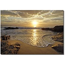 2-beach-sunrise-canvas-artwork Beach Wall Decor
