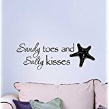 2-sandy-toes-wall-decal Beach Wall Decor