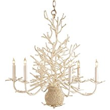 2 White C Chic Chandelier Beach Themed Chandeliers