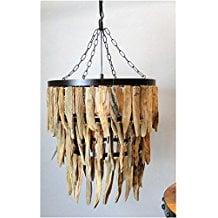 3-driftwood-theme-chandelier Beach Chandeliers & Coastal Chandeliers