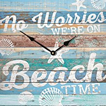 3-no-worries-were-on-beach-time-wall-clock Beach Wall Decor