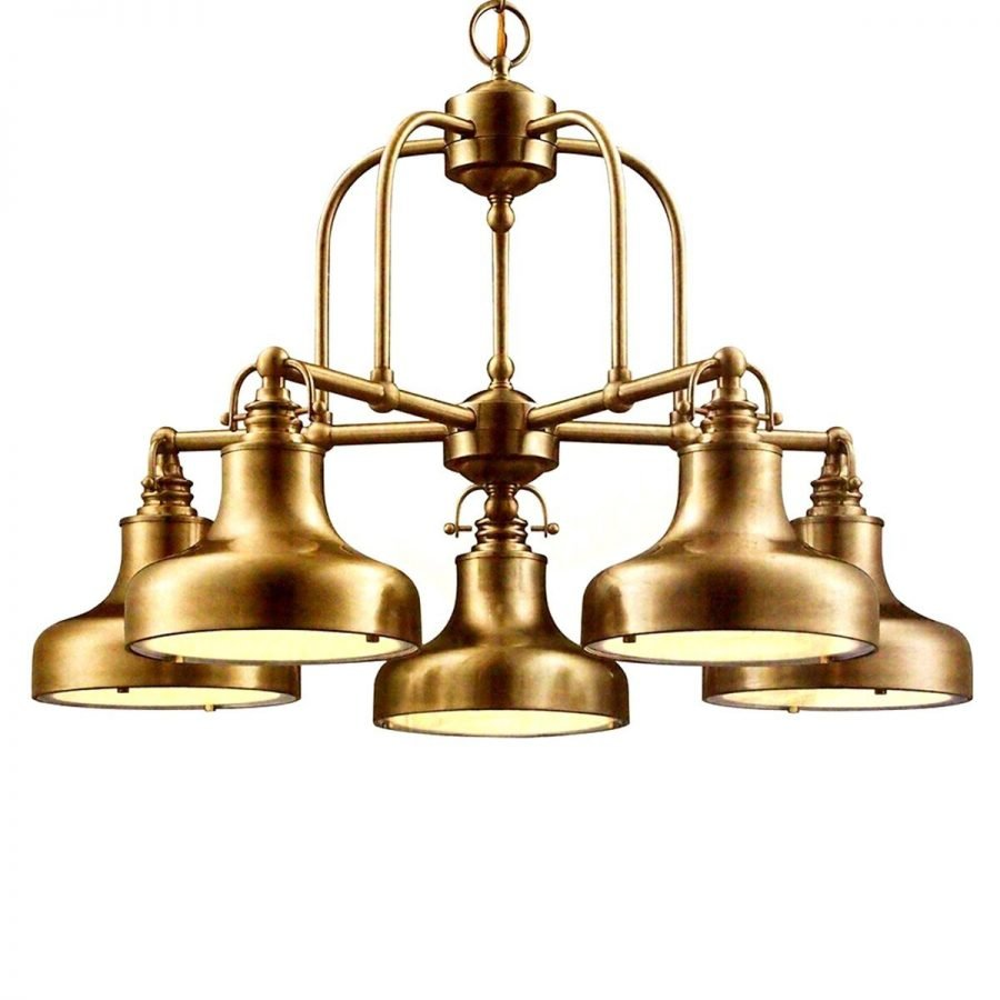 4-antique-brass-chandelier 100+ Beautiful Nautical Themed Chandeliers