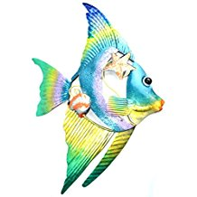 4-colorful-fish-wall-decor Beach Wall Decor