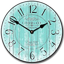 4-turquoise-wall-clock-decor The Best Beach Wall Decor You Can Buy