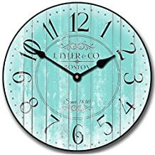 4-turquoise-wall-clock-decor Beach Wall Decor