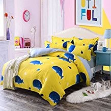 4pcs-Animal-Designs-Hydro-Cotton-KidsTeens-Bedding-Sets-Duvet-Cover 100+ Nautical Duvet Covers and Nautical Coverlets For 2020