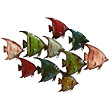 5-deco-79-metal-fish-wall-decor Beach Wall Decor