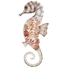 6-seahorse-scallop-wall-art Beach Wall Decor