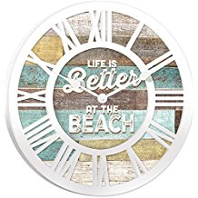 7-life-is-better-at-the-beach-wall-clock Beach Wall Decor