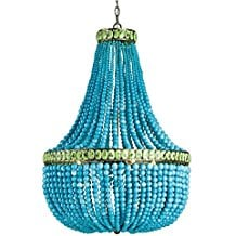 7-turquoise-blue-beaded-chandeliers Beach Chandeliers & Coastal Chandeliers