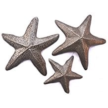 8-starfish-set-of-3-metal-wall-art-decor Beach Wall Decor
