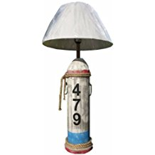 Distressed-Wood-Lamp 100+ Beach Themed Lamps