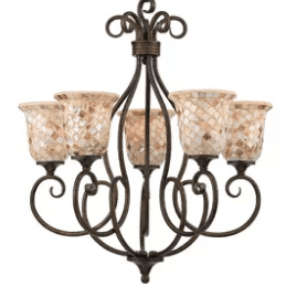 Frangipani-Chandelier-by-Beachcrest-Home Beach Themed Chandeliers