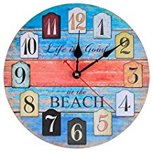 Life-is-good-at-the-beach-wall-clock Beach Wall Decor