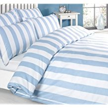 Louisiana-Bedding-Vertical-Stripe-Blue-White-Quilt-Duvet-Cover-Set 100+ Nautical Duvet Covers and Nautical Coverlets For 2020