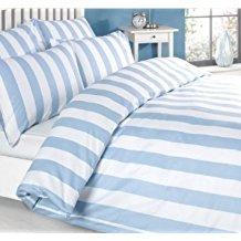 Louisiana-Bedding-Vertical-Stripe-Blue-White-Quilt-Duvet-Cover-Set 100+ Nautical Duvet Covers and Nautical Coverlets