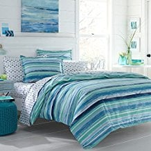 Poppy-Fritz-Alex-Cotton-striped-Duvet-Cover-Set 100+ Nautical Duvet Covers and Nautical Coverlets