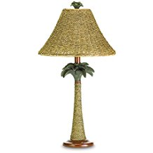 Rattan-Rope-Palm-Tree-Lamp 100+ Beach Themed Lamps