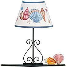 Seashell-Lamp-With-Shelf 100+ Beach Themed Lamps