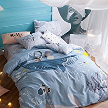 Svetanya-Seaworld-Whale-Fish-Duvet-Cover-Set 100+ Nautical Duvet Covers and Nautical Coverlets For 2020
