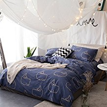 Svetanya-Whales-Blue-Duvet-Cover 100+ Nautical Duvet Covers and Nautical Coverlets For 2020