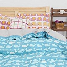 VClife-3-pcs-Elephant-Whale-Printed-Duvet-Cover-Sets 100+ Nautical Duvet Covers and Nautical Coverlets