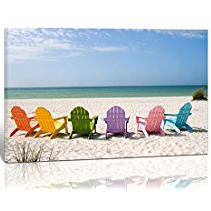 beach-chairs-canvas-art Beach Wall Decor