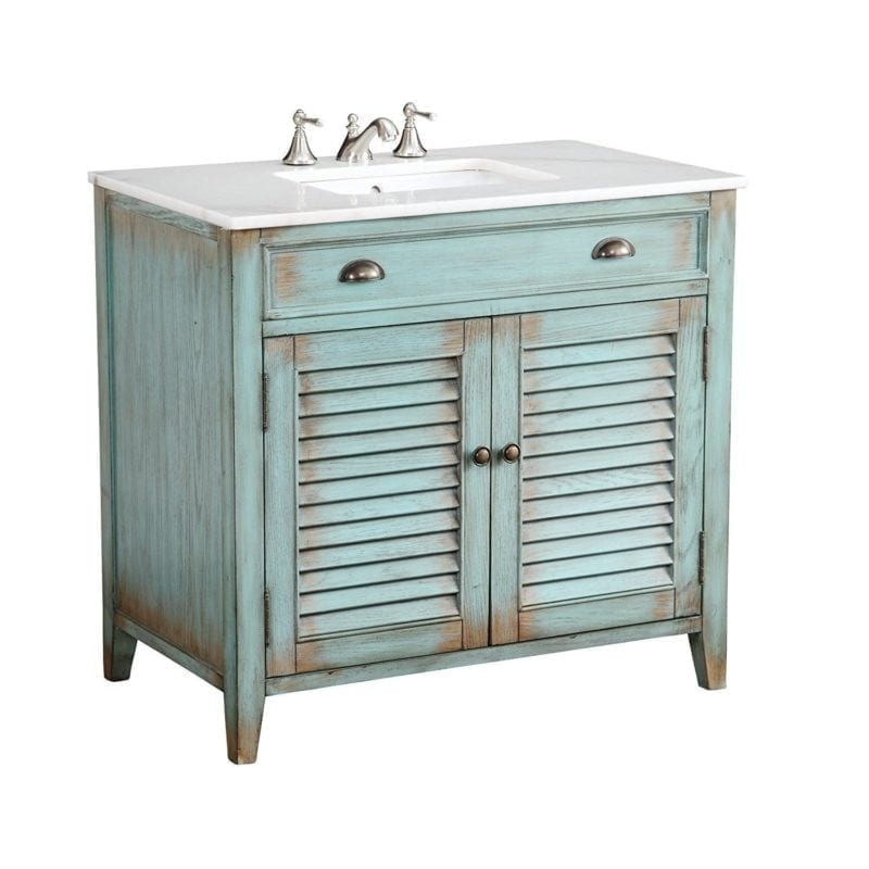 beach-cottage-bathroom-vanity-800x800 100+ Beach Bathroom Decorations