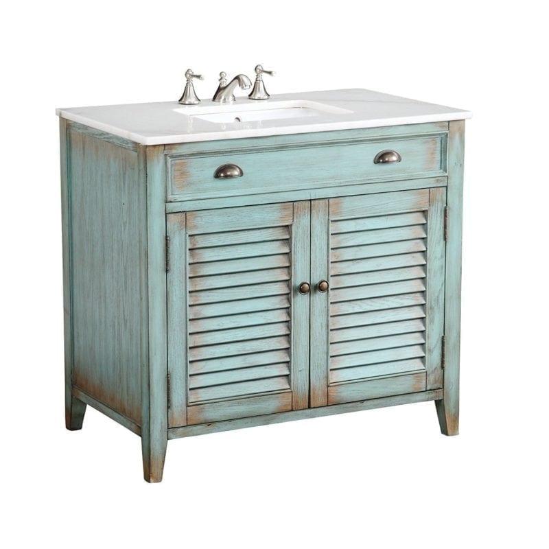 beach-cottage-bathroom-vanity-800x800 100+ Best Beach Bathroom Decorations 2020
