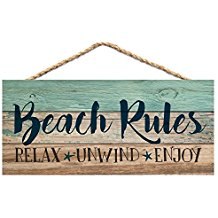 beach-rules-wooden-sign-5 Beach Wall Decor