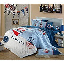 boat-nautical-duvet-cover 100+ Nautical Duvet Covers and Nautical Coverlets For 2020