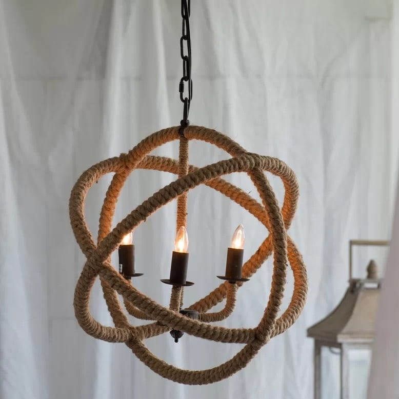 corsair-4-light-nautical-rope-pendant Nautical Pendant Lights