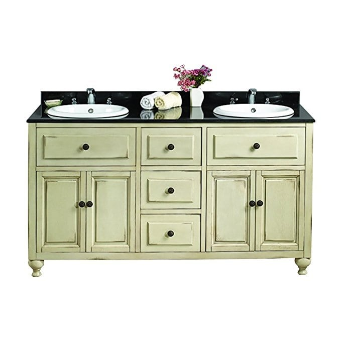 granite-top-green-bathroom-vanity 100+ Beach Bathroom Decorations