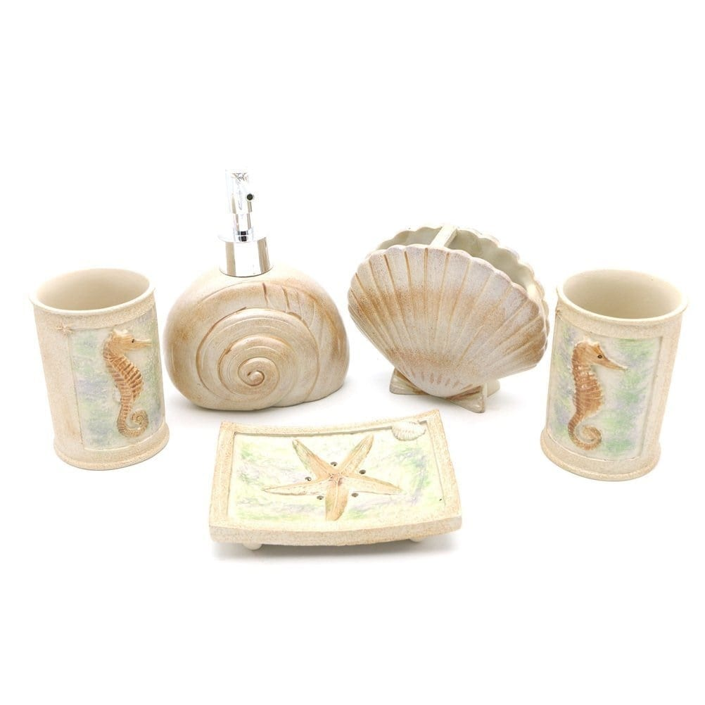 hotsan-resin-5-piece-beach-bathroom-accessory-set Beach