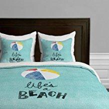 lifes-a-beach-duvet-cover-set Beach Duvet Covers & Coastal Duvet Covers