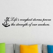 lifes-roughest-storms-anchor-wall-decal Beach Wall Decor