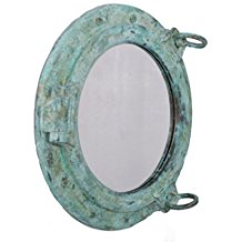 nautical-porthole-mirror Beach Wall Decor