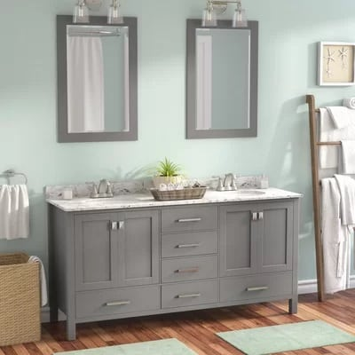 Newtown Double Vanity Bathroom Beach Beach Bathroom Decor