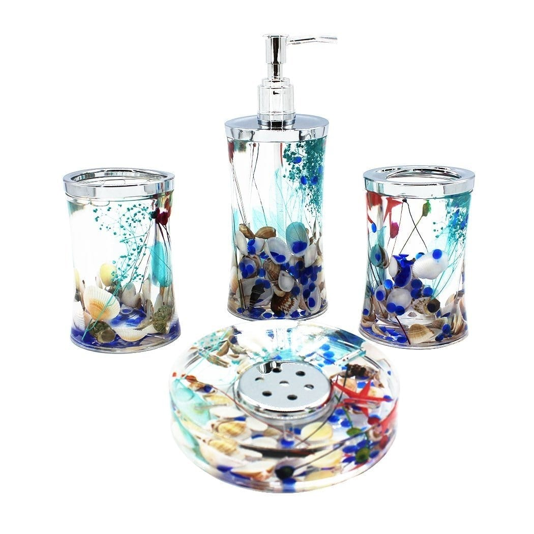 ocean-series-bathroom-accessory-set 100+ Beach Bathroom Decorations