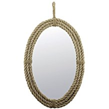 oval-rope-mirror-wall-decor Beach Wall Decor