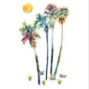 palm-tree-wall-decal Beach Wall Decor