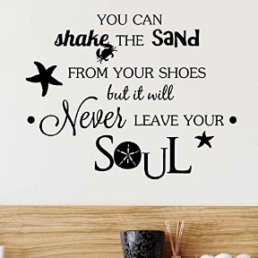 sand-leave-your-soul-beach-wall-decal Beach Wall Decor