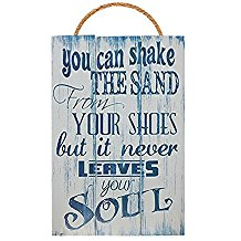 shake-sand-from-shoes-never-leaves-soul-wooden-beach-sign-10 Beach Wall Decor