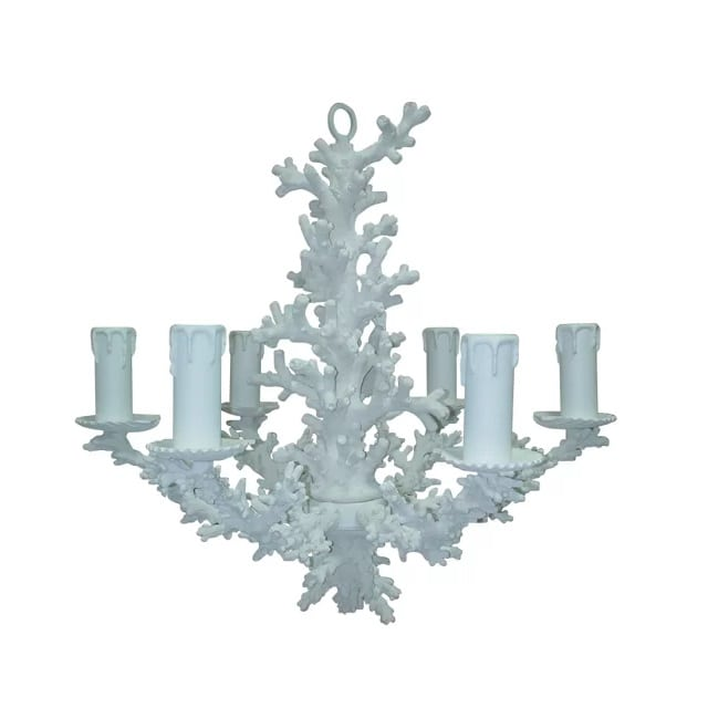 snow-coral-chandelier Nautical Chandeliers