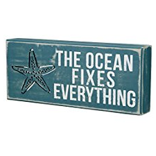 the-ocean-fixes-everything-wooden-sign Beach Wall Decor