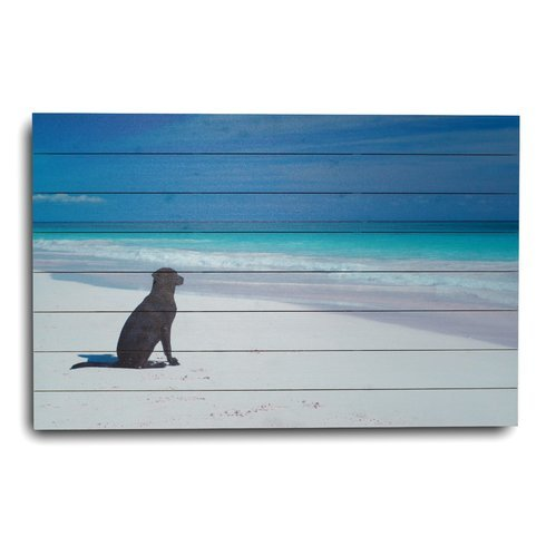 22Dog-at-the-Beach22-Photographic-Print Beach Paintings and Coastal Paintings